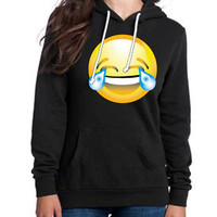 Crying From Laughter  Emoji Hoodie