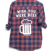 Wish You Were Beer Flannel