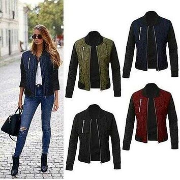 Chic Babe Bomber Jacket In Quilted Satin -Size: Large, Color: Classic Black