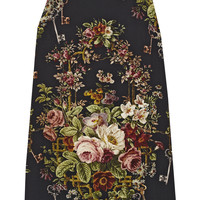 Dolce & Gabbana - Floral-print crepe mini dress