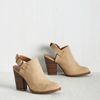 Charismatic Coffee Lover Bootie in Latte | Mod Retro Vintage Boots | ModCloth.com