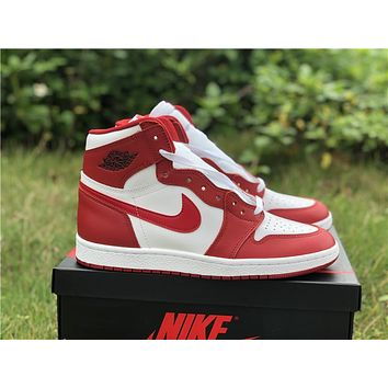 NIKE Air Jordan 1 high top, reverse white and red Chicago 41-46