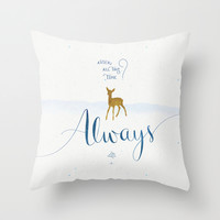 "Harry Potter ""Always"" Throw Pillow by Earthlightened"