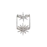 Pave Double Starburst Ring