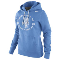 Nike North Carolina Tar Heels :UNC: Womens School Stamp Pullover Hoodie - Carolina Blue