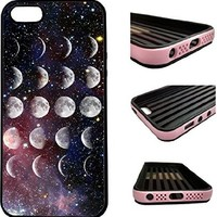 CorpCase iPhone SE / 5 / 5S / 5SE Case - Moon Phases Lunar Hipster Galaxy/ Hybrid ULTRA Protective iphone 5/5S/5SE Case With Great Style - Features Unique 2-in-1 Hybrid protection with TPU+Plastic