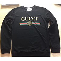 shosouvenir : GUCCI HOT SALE Round neck letters printed loose long sleeve sweater