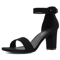 Allegra K Woman Chunky Heel Ankle Strap Sandals