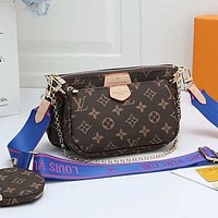 Louis Vuitton LV Women Leather Crossbody Satchel Shoulder Bag