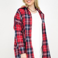 Charlie Flannel High- Low Tunic