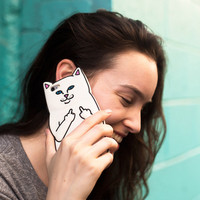F Off Middle Finger Pocket Cat Trending Silicon iPhone Case _ 5031