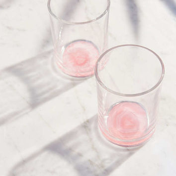 Geode Bottom Glass - Set Of 2 | Urban Outfitters
