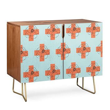 Morgan Kendall orange cross Credenza