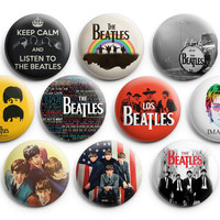 The Beatles Pinback Buttons Badge (Set of 10) 1.25 inches Hot Set ,Rock Band,New