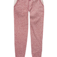 Celebrity Pink Marled Girls Jogger Pants Burgundy  In Sizes