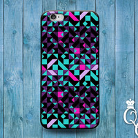 iPhone 4 4s 5 5s 5c 6 6s plus iPod Touch 4th 5th 6th Gen Cool Geometrical Geometric Blue Pink Purple Teal Pattern Phone Cover Cute Fun Case