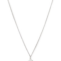FOREVER 21 Faux Stone Cube Necklace Silver/Clear One