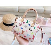 LV 2019 new women's wild pillow bag portable diagonal double bag