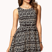 Tribal Print Fit & Flare Dress | FOREVER 21 - 2075698551