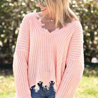 Looking For Love Sweater - Peach