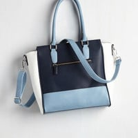 Triple the Charm Bag in Navy