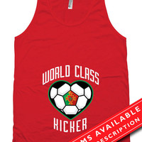 Soccer Pregnancy Announcement Tank Tops Gifts For Expecting Moms Soccer Shirts For Mom Portugal Soccer Fan American Apparel Tanks MD-647