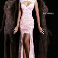 Embellished Hi Lo Gown by Sherri Hill