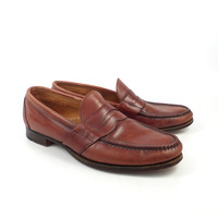 Cole Haan Loafers Vintage 1980s Brown Shoes Dress Men's size 11 B