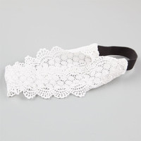 Full Tilt Wide Lace Headband White One Size For Women 25154515001