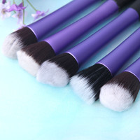 Purple 5PCS Makeup Brush Set Cosmetic Brush Face Blusher Foundation Tool