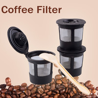 3pcs Coffee Filters Compatible with Keurig K Cup Coffee System Reusable Filter 86579