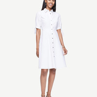 Poplin Tie Sleeve Shirt Dress | Ann Taylor