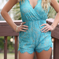 Jade Babe Raw Lace Romper