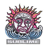 Sublime Men's Weeping Sun Embroidered Patch White