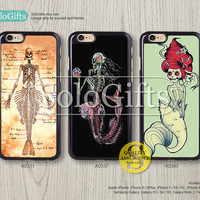 Little mermaid Skeleton, iPhone 6 case, iPhone 6 Plus case, iPhone case, iPhone 5 case, iPhone 5S Case, Galaxy S5 S4 S3 Note 2 Note 3, A0331