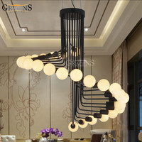 Modern Loft Industrial Chandelier Lights Bar Stair Dining Room Lighting Retro Gracens Chandeliers Lamps Fixtures Lustres