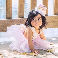 Christmas Baby Girl Lace Romper+Tutu Tulle Skirts Fancy Outfits Set Costume 0-2T