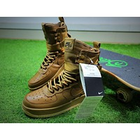 Nike Special Forces Air Force 1 SF AF1 Boots Khaki Shoes Women Sneaker