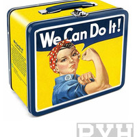 Smithsonian Rosie We Can Do It Lunch Box Tin Tote