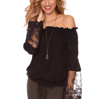Annabelle Lace Top - Black