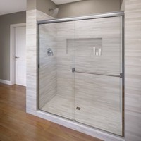"Classic 70"" x 40"" Frameless Bypass Sliding Shower Door"