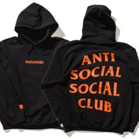 "Fashion ""Anti Social Social Club""Blouse Casual Hooded Sweater"