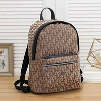 Dior men and women canvas all-match backpack