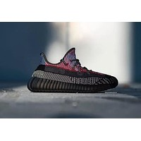 Adidas Yeezy Boost 350 V2 Gypsophila Black and Red Sneakers