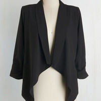Mid-length 3 Marketing Maven Blazer in Black