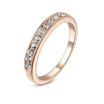 Elegant Rings For Women 18K Rose Gold Plated Ring
