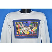 90s Looney Tunes Coast to Coast Sweatshirt Youth Large