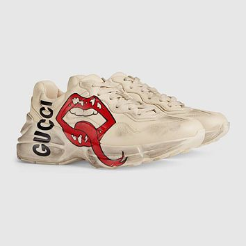 GUCCI Women's Rhyton sneaker with mouth print