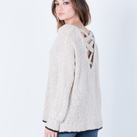 Cross Back Sweater Top