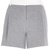 River Island Womens Grey and white smart shorts